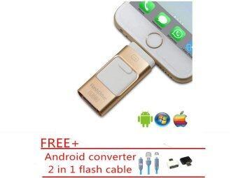 512 กิกะไบต์ 3 ใน 1 มินิโลหะ USB ไดรฟ์ปากกาแฟลชไดรฟ์สำหรับ iPhone 5/5 วินาที/ 5C/6/6 บวก/7/7 บวก/iPad/แอนดรอยด์/PC_gold สีขาว-นานาชาติ