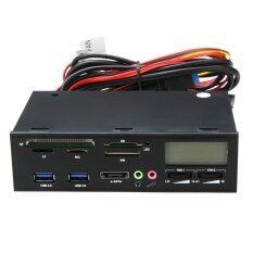 ขาย 5 25 Usb 3 E Sata All In 1 Pc Media Dashboard Multi Function Front Panel Card Reader I O Ports Intl ออนไลน์