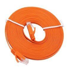 ราคา 5Meters Rj45 Cat6 Ethernet Network Flat Lan Cable Utp Patch Router Cables 1000M Intl เป็นต้นฉบับ