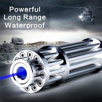 5MW High Power Blue Laser Pointer Pen Burn Visible Military 445nm Visible Beam Sliver - intl