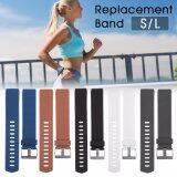 ซื้อ 5Pcs Colorful Replacement Wristband With Metal Clasp For Fitbit Charge 2