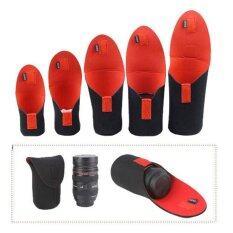 ขาย ซื้อ ออนไลน์ 5Pcs Neoprene Dslr Camera Lens Soft Protector Pouch Bagcase Set S M L Xl Xxl Intl