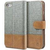 เคส ไอโฟน 6 6S เคสหนัง Iphoen 6 6S ผสมผ้า ฝาพับ ฝาปิด ซองมือถือ Bez® Iphone 6 6S Wallet Flip Case Cover Canvas Faux Leather Tt1 6G Bez® ถูก ใน กรุงเทพมหานคร