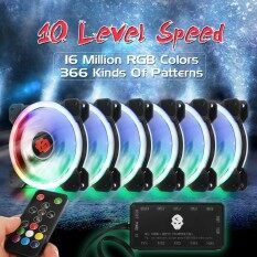 ซื้อ 6 Pack 1800Rpm Rgb Led Quiet Computer Case Pc Cooling Fan 120Mm Remote Control Intl Unbranded Generic ออนไลน์