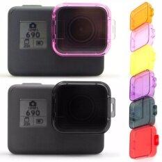 ขาย 6 แพ็คตัวกรองเลนส์ดำน้ำ การแก้ไขสีชดเชยตัวกรองใต้น้ำวิดีโอการถ่ายภาพการถ่ายทำ Hero5 กล้องถ่ายภาพกีฬา สีแดงสีเหลืองสีม่วงชมพูส้มสีเทา จีน ถูก