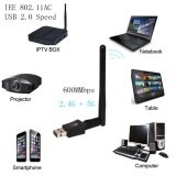 ขาย ซื้อ 600 Mbps Dual Band 2 4 5Ghz Wireless Usb Wifi Network Adapter W Antenna 802 11Ac Intl จีน