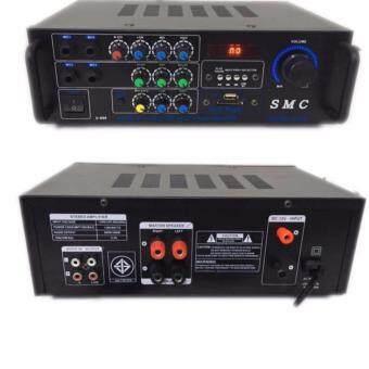 เครื่องขยายเสียง 600+600W AC/DC BLUETOOTH USB MP3 SDCARD คาราโอเกะ ดิจิตอลเอคโค่ รุ่น SMC-6000