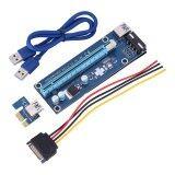 ขาย ซื้อ ออนไลน์ 60 เซนติเมตร Pci E Express 1X ถึง 16X Usb 3 การ์ดหน่วยความจำ Extender Riser Adapter กราฟิก Card สีฟ้า
