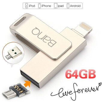 64GB 3 in1 OTG USB Flash Drives Pen Drive For iPhone iPad iPod APPLE MFi JetDrive (Silver) - intl