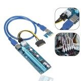 ขาย 6Pcs Usb 3 Pci E Express 1X To16X Extender Riser Board Card Adapter Sata Cable Intl ถูก