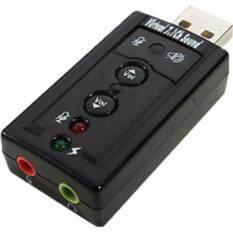 ส่วนลด 7 1 Channel Audio Sound Card Adapter 3D Usb Sound Black