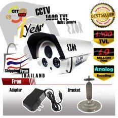 กล้องวงจรปิด ทรงกระบอก 700 TVL / 800 TVL / 900 TVL / 1000 TVL / 1200 TVL / 1400 TVL / Analog / CVBS 1 MP ล้านพิกเซล กล้อง 1400 TVL เลนส์  4mm New Sensorchip New Model 2018 ฟรีอะแดปเตอร์  ฟรีขายึดกล้อง
