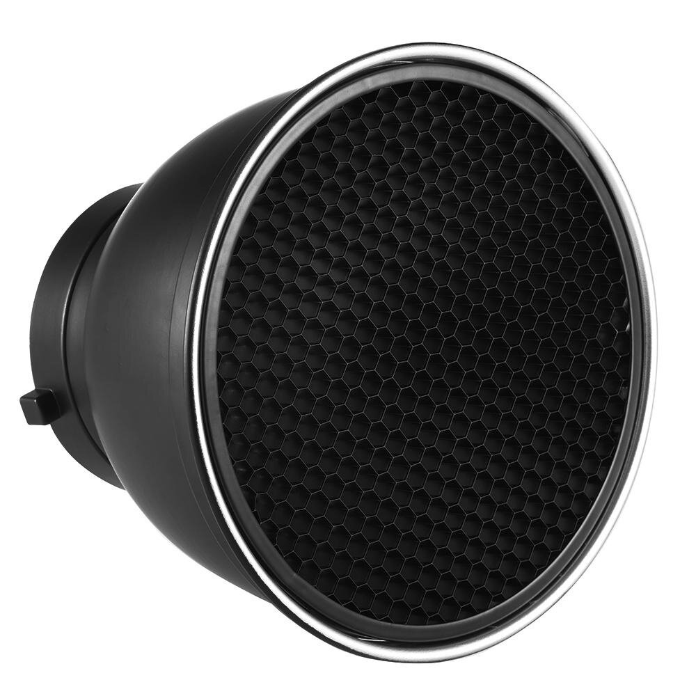 7″ Standard Reflector Diffuser Lamp Shade Dish with 60� Honeycomb Grid for Bowens Mount Studio Strobe Flash Light Speedlite – intl
