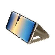 ขาย เคสฝาพับ กระจกซัมซุง โน้ต 8 Clear View Standing Cover Samsung Galaxy Note 8 สีทอง
