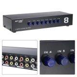 ราคา 8 ใน 1 Out Splitter คอมโพสิต 3Rca Av Video Audio Switch Switcher เลือกกล่อง เป็นต้นฉบับ