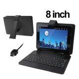 ราคา 8 Inch Universal Tablet Pc Leather Case With Mini Usb Plastic Keyboard Holder Unbranded Generic ออนไลน์