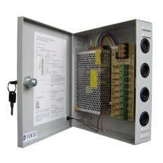 ตู้จ่ายไฟ 9 Ch. 12V 15A สำหรับกล้องวงจรปิด 8 จุด ไม่ต้องใช้ อแดปเตอร์ Switching Power Supply
