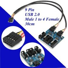 9 Pin หัว Usb ชาย 1 ถึง 4 หญิง Splitter 9 จุด Port Multiplier 1 ฟุต - Intl.