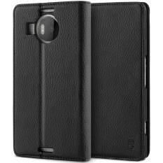 โปรโมชั่น เคสโนเกีย ลูเมีย 950 Xl Bez® เคสมือถือ แบบฝาพับ ฝาปิด ตั้งได้ มีช่องใส่บัตร มีช่องใส่ธนบัตร เคสหนัง ซองมือถือ สีดำ Microsoft Lumia 950 Xl Flip Case Cover Black Pu1 950Xl ถูก