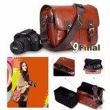 โปรโมชั่น 9Final กระเป๋ากล้อง วินเทจ Retro Style ย้อนยุค Model 116L หนัง Pu Size L สำหรับกล้อง Dslr Canon Nikon สีน้ำตาล แดง ถูก