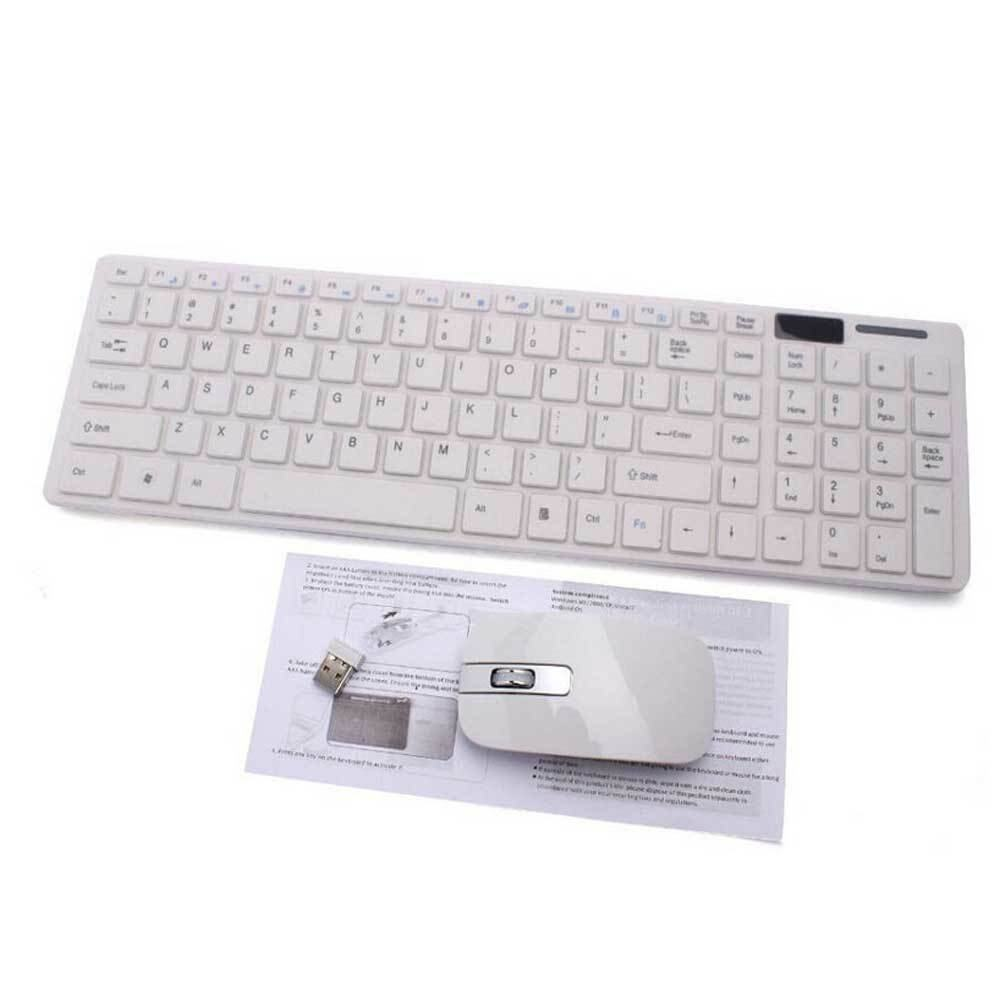 9FINAL ULTRA THIN 2.4G Wireless Combo SET Keyboard + Mouse ชุดเมาส์ คีย์บอร์ด ไร้สาย For DESKTOP Laptop Keyboard Mice Set (สีดำ)