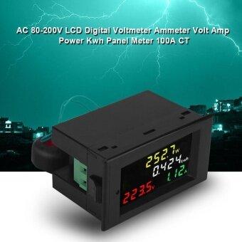 AC 80-300V 100A Color LCD Digital Voltmeter Ammeter Volt Amp Power Kwh Meter - intl