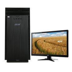 "Acer Aspire (DT.SZGST.003)TC704-314G5000Mi/T003_CQC - Intel Celeron N3150/4GB/500GB/Dos(Black) พร้อมจอ Acer LED Monitor G206HQLGbd (UM.IG6SS.G05) 19.5"""
