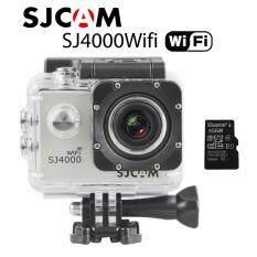 Action cam Car camera กล้องแอ็คชั่นแคม ,กล้องติดรถยนต์,กล้องติดหมวกกันน็อค ,กล้องถ่ายใต้น้ำ sj4000 wifi silver add 16G TF card