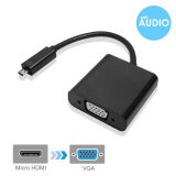 ขาย Micro Hdmi To Vga Adapter With Audio Support Black Male To Female With 3 Feet Micro Usb Power Cable For Mini Hdmi Enabled Ultrabooks Notebooks Tablets Cameras And Camcorders To Connect To Vga Displays ถูก จีน