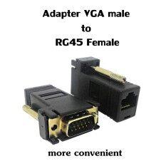 ตัวแปลสัญญาณ Vga เป็น Lan Cat5/cat6/cat7/rg45 แพ๊ก 2ชิ้น By X Like.