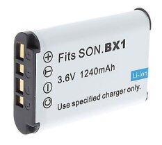 แบตกล้องโซนี่ รุ่น NP-BX1 แบตเตอรี่กล้อง Sony HDR-CX405,  CX440, Sony GW66, Sony MV1, PJ275, PJ440 ..Replacement Battery for Sony