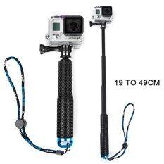 Di shop ไม้เซลฟี่ TMC Monopod ยืด19-49cm (สีน้ำเงิน) สำหรับกล้อง Gopro / Xiaomi Yi / SJCAM