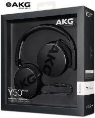 AKG HeadPhones Portable On-Ear รุ่น Y50 (สีดำ) หูฟัง AKG ชนิดครอบหู รับประกันศูนย์