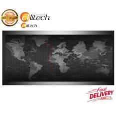 Alitech แผ่นรองเมาส์ขนาด 80x30 ซม. ลาย World Map S  .