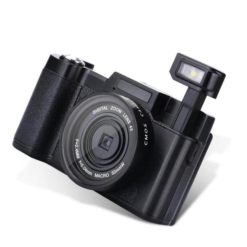 Allwin Professional 3.0 Inch LCD Display 1080P Video Digital Camera 4X Zoom 24MP EU Plug - intl