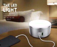 Aluminium Touching Sensor Switch 3 Modes Led Night Light Home Charger With 2 Usb Quick Charging Ports 5V 2 4A Eu Plug For Phone Intl Ldnio ถูก ใน จีน