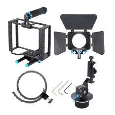 ราคา อะลูมิเนียมเจือ Dslr ฟิล์มภาพยนตร์วิดีโอชุดให้ด้วยเสื้อยึดกล้องจัดการกรง 15มมกล่องไม้เคลือบเซ็ต Follow Focus สำหรับ Dslr กล้องแคมคอร์ดเดอร์ Outdoorfree ในประเทศ