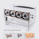 Aluminum Open Air Mining Miner Rig Stackable Frame Case With 4 Fan For 6 Gpu Eth Intl ถูก