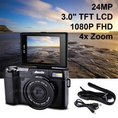 Amkov 24mp Digital Camera Fhd 1080p Video 3 Lcd Camcorder With Uv Filter By Xcsource Th.