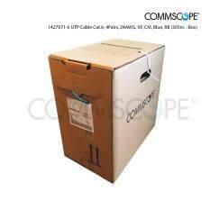 ราคา ราคาถูกที่สุด Commscope สายสัญญาณคอมพิวเตอร์ Utp Cat 6 305 ม 24Awg Cm รุ่น 1427071 6 สีน้ำเงิน
