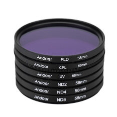 Andoer 58มม UV+CPL+FLD+ND (ND2 ND4 ND8)