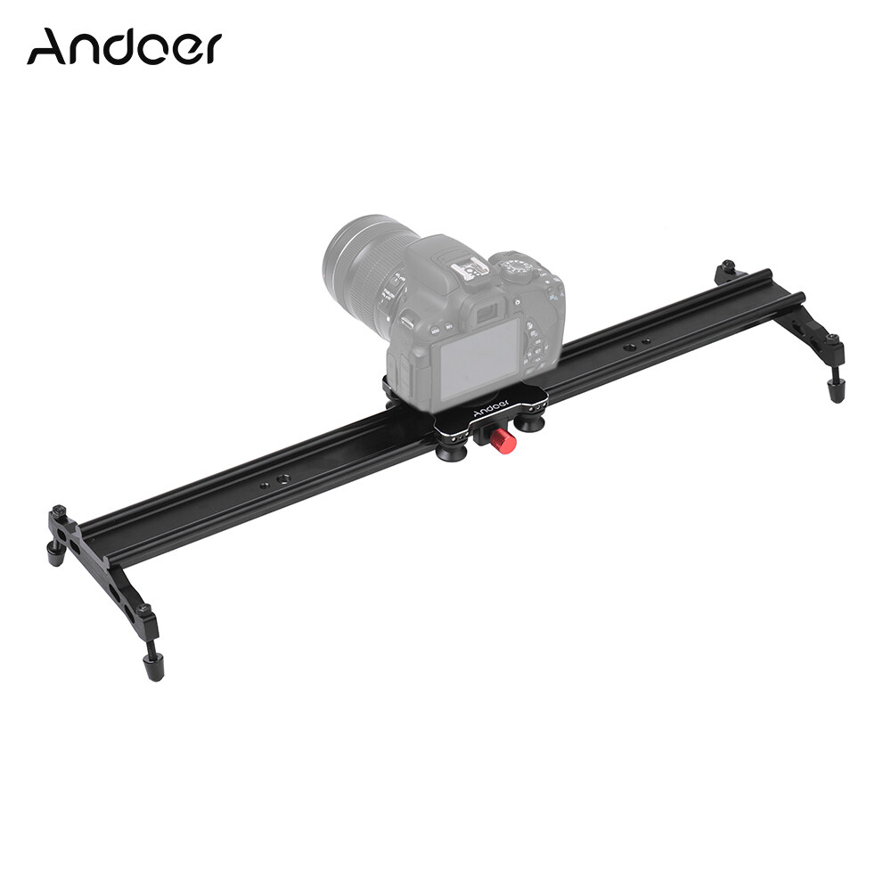 Andoer 80cm / 32″ 4 Bearings Camera Slider Rail Track Slider Aluminum Alloy Video Stabilizer for Canon Nikon Sony Cameras Camcorders Max Load Capacity 5Kg – intl