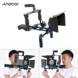 โปรโมชั่น Andoer D221 Aluminum Alloy Camera Camcorder Video Cage Kit Film Making System With Cage Shoulder Pad 15Mm Rod Matte Box Follow Focus Handle Grip For Canon Nikon Dslr Outdoorfree Andoer