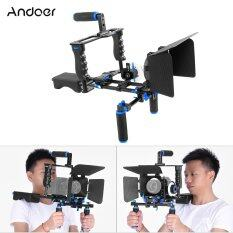Andoer D221 Aluminum Alloy Camera Camcorder Video Cage Kit Film Making System With Cage Shoulder Pad 15Mm Rod Matte Box Follow Focus Handle Grip For Canon Nikon Dslr Outdoorfree ใน ชิลี