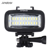 Andoer High Power 700Lm Diving Video Fill In Light Led Lighting Lamp Waterproof 40M 1900Mah With Diffuser For Gopro Sjcam Xiaomi Yi Sports Action Camera Intl ใหม่ล่าสุด