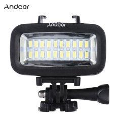 ราคา Andoer High Power 700Lm Diving Video Fill In Light Led Lighting Lamp Waterproof 40M 1900Mah With Diffuser For Gopro Sjcam Xiaomi Yi Sports Action Camera Intl ใหม่ล่าสุด
