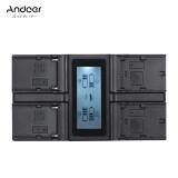 ส่วนลด สินค้า Andoer Lp E6 Lp E6N Np F970 4 Channel Digital Camera Charger W Lcd Display For Canon 5Diii 5Ds 5Dsr 6D 7Dii 80D 70D For Sony Np F550 F750 F950 Np Fm50 Fm500H Intl