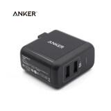 ขาย Anker Usb Charger 24W 2 Port Charger 2A Phone Charger With Poweriq Usb Smart Charger Powerport 2 For Smartphone Black ผู้ค้าส่ง