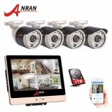 ซื้อ Anran 4Ch 12 Inch Lcd Poe Nvr Cctv System P2P 1080P Hd Night Vision Ip Camera Outdoor Security Camera System 1Tb Hdd Intl ใหม่ล่าสุด