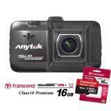ส่วนลด Anytek กล้องติดรถยนต์ รุ่น A18 Original Full Hd เลนส์กระจก 6ชิ้น A มุมมอง 170องศา จอภาพ 3นิ้ว Black Transcend Microsdhc 16Gb Class10 พรีเมี่ยม Anytek กรุงเทพมหานคร